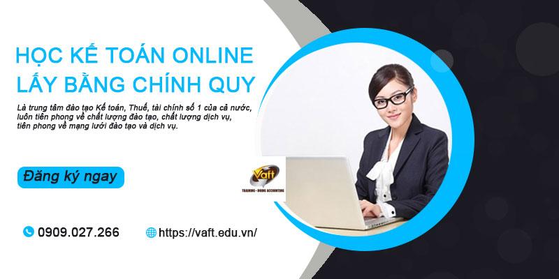 Học kế toán online lấy bằng chính quy
